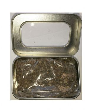 Natural Resin Incense | BENZOIN | 50 gram packet In a silver coloured tin